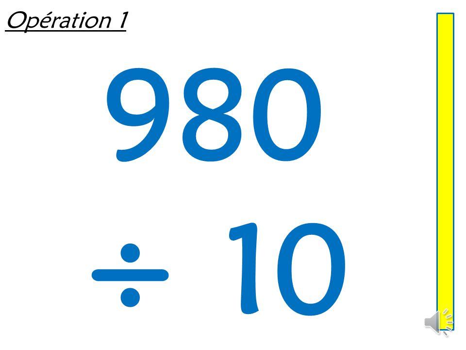 Opération 1 980 ÷ 10