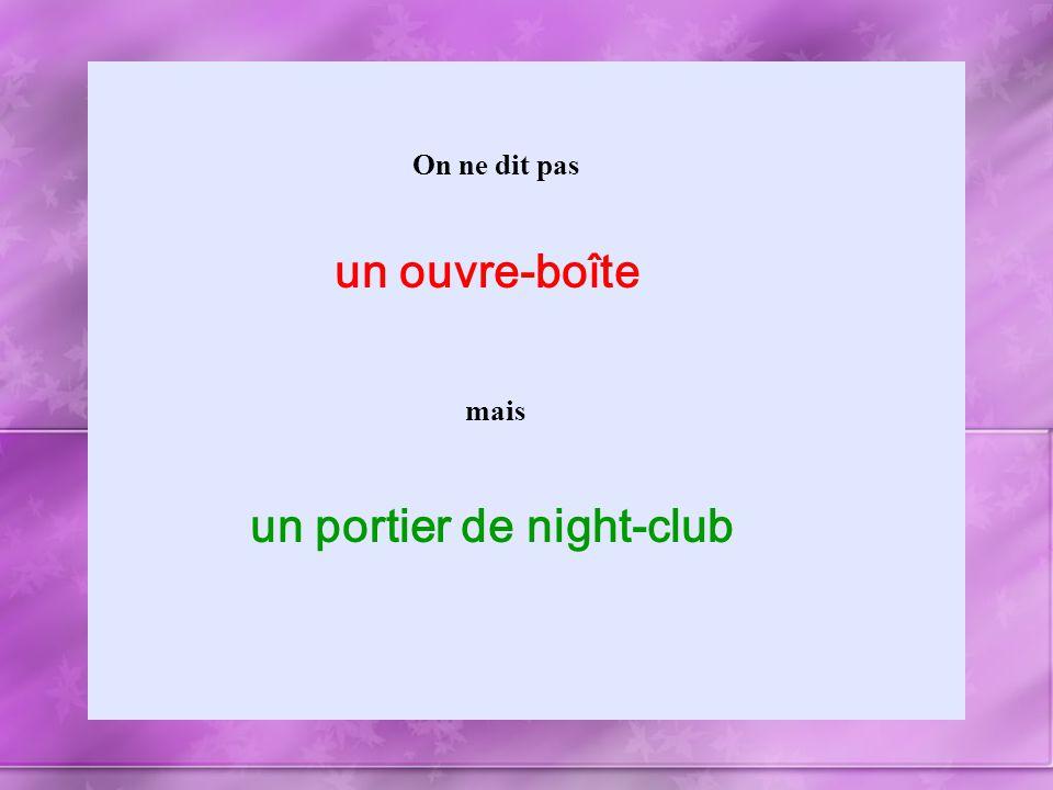 un portier de night-club