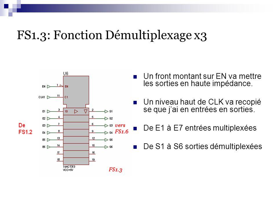 FS1.3: Fonction Démultiplexage x3
