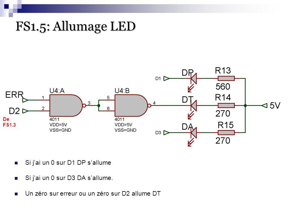 FS1.5: Allumage LED Si j'ai un 0 sur D1 DP s'allume
