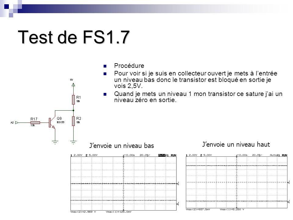 Test de FS1.7 Procédure.