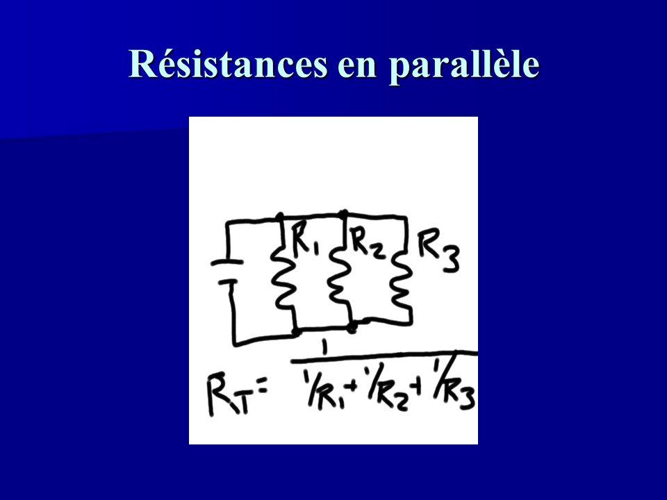 Résistances en parallèle