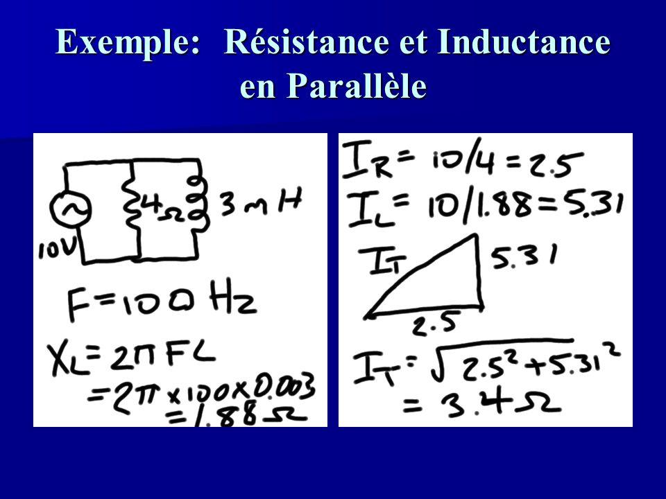 Exemple: Résistance et Inductance en Parallèle
