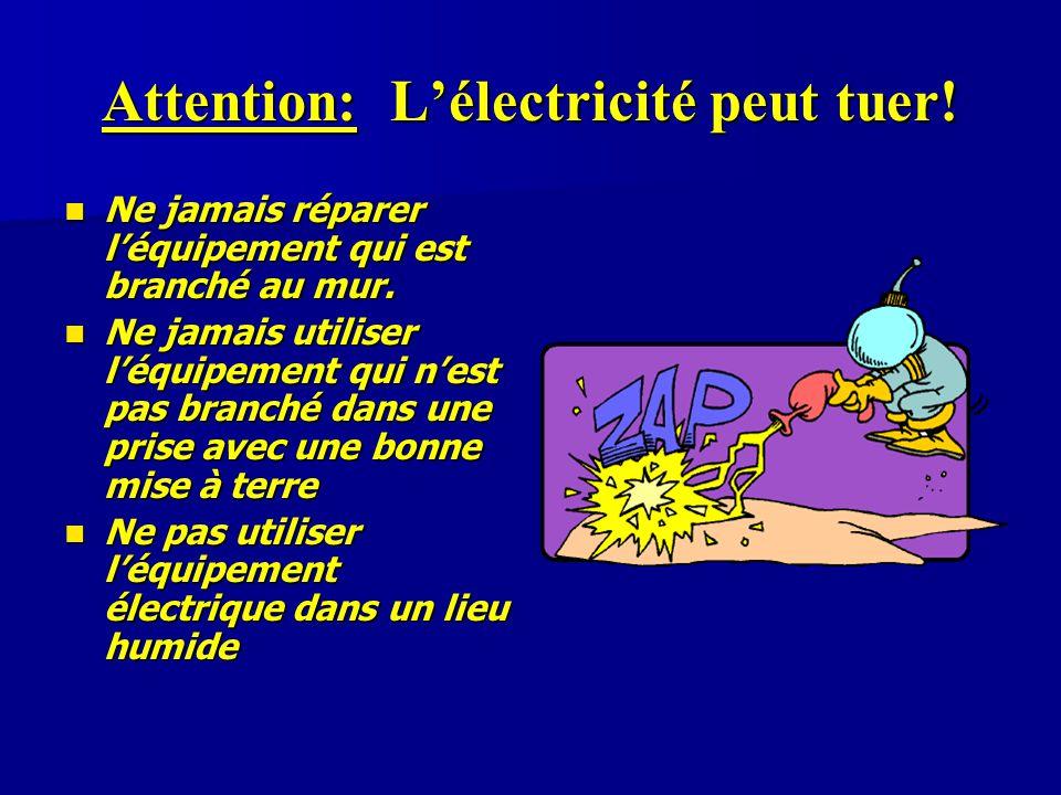 Attention: L'électricité peut tuer!