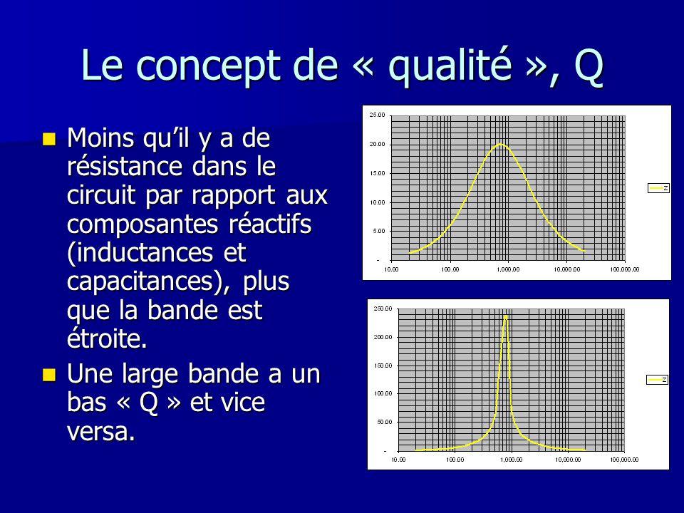 Le concept de « qualité », Q