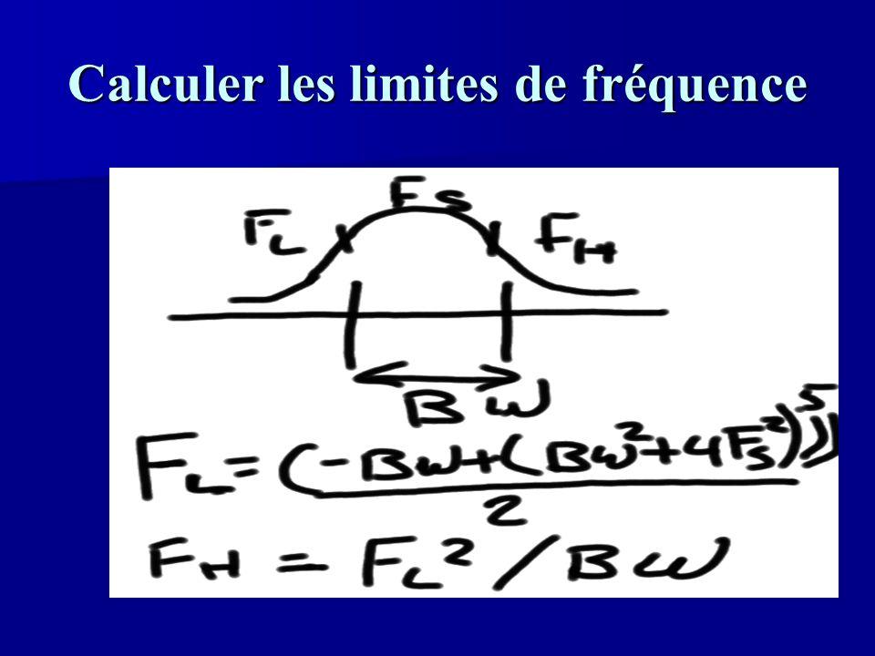 Calculer les limites de fréquence