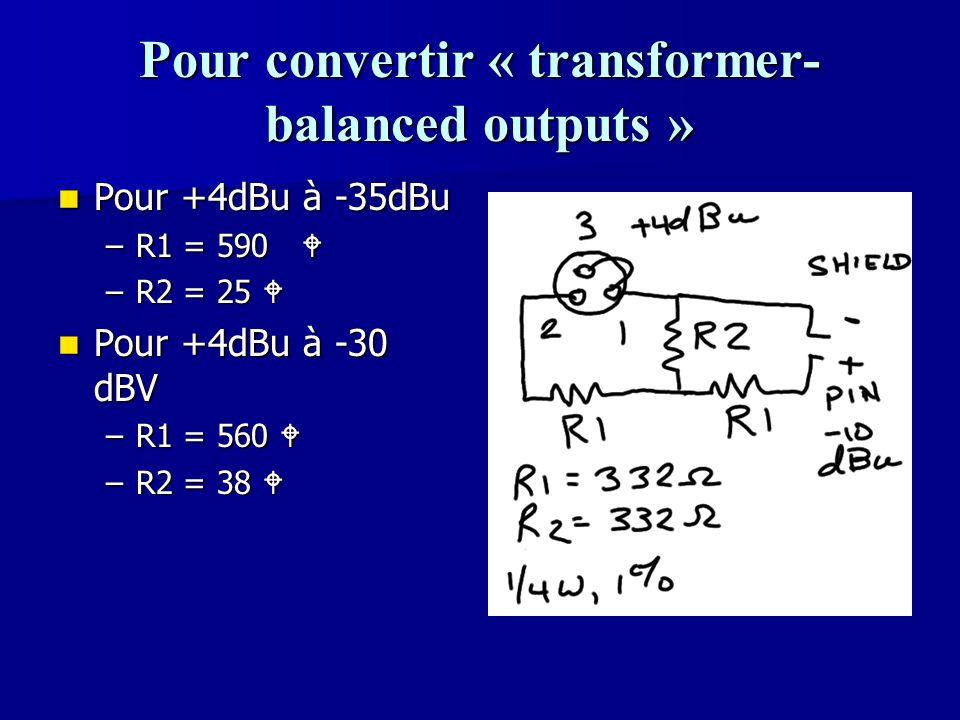 Pour convertir « transformer-balanced outputs »