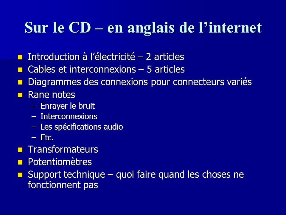 Sur le CD – en anglais de l'internet
