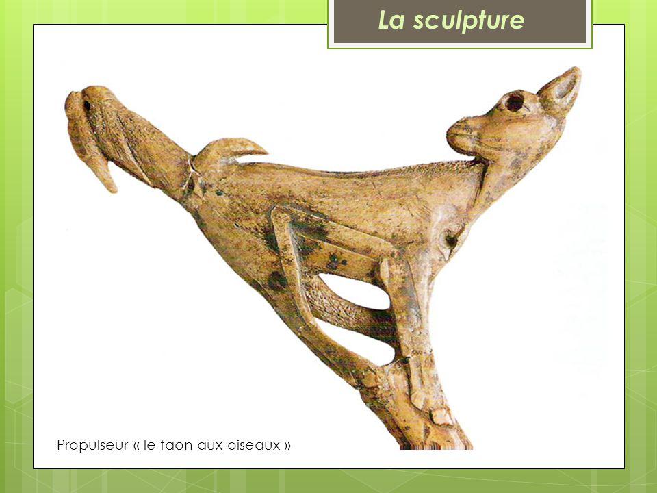 La sculpture Propulseur « le faon aux oiseaux »