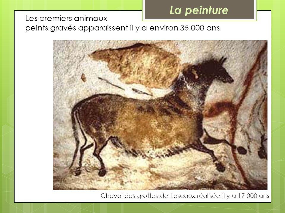 La peinture Les premiers animaux