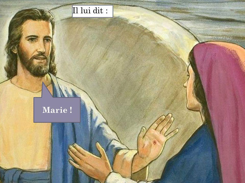Il lui dit : Marie !