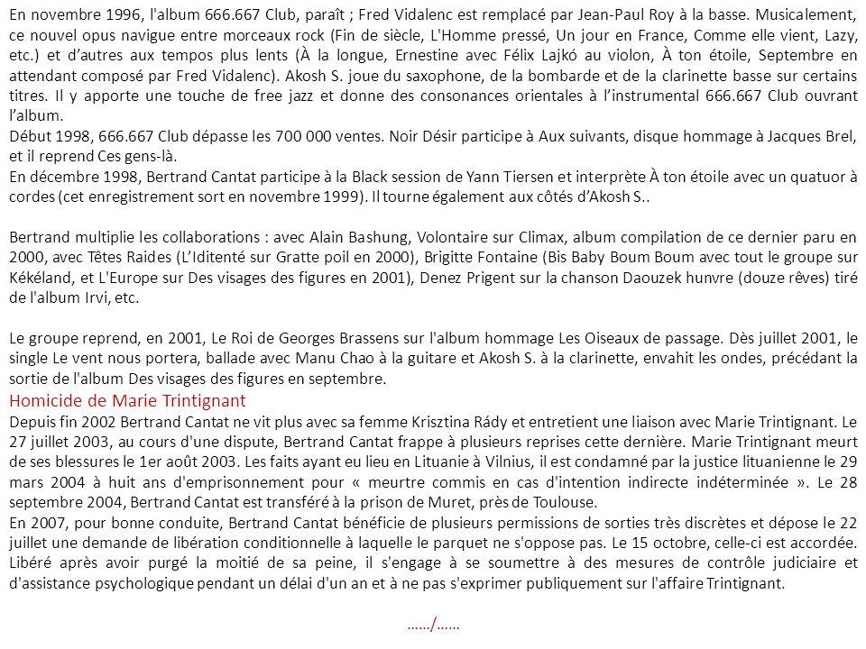 Homicide de Marie Trintignant