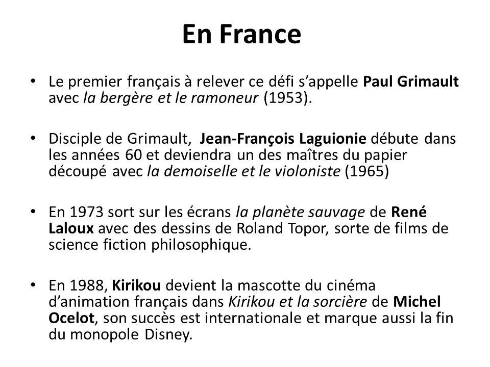 En France Le premier français à relever ce défi s'appelle Paul Grimault avec la bergère et le ramoneur (1953).
