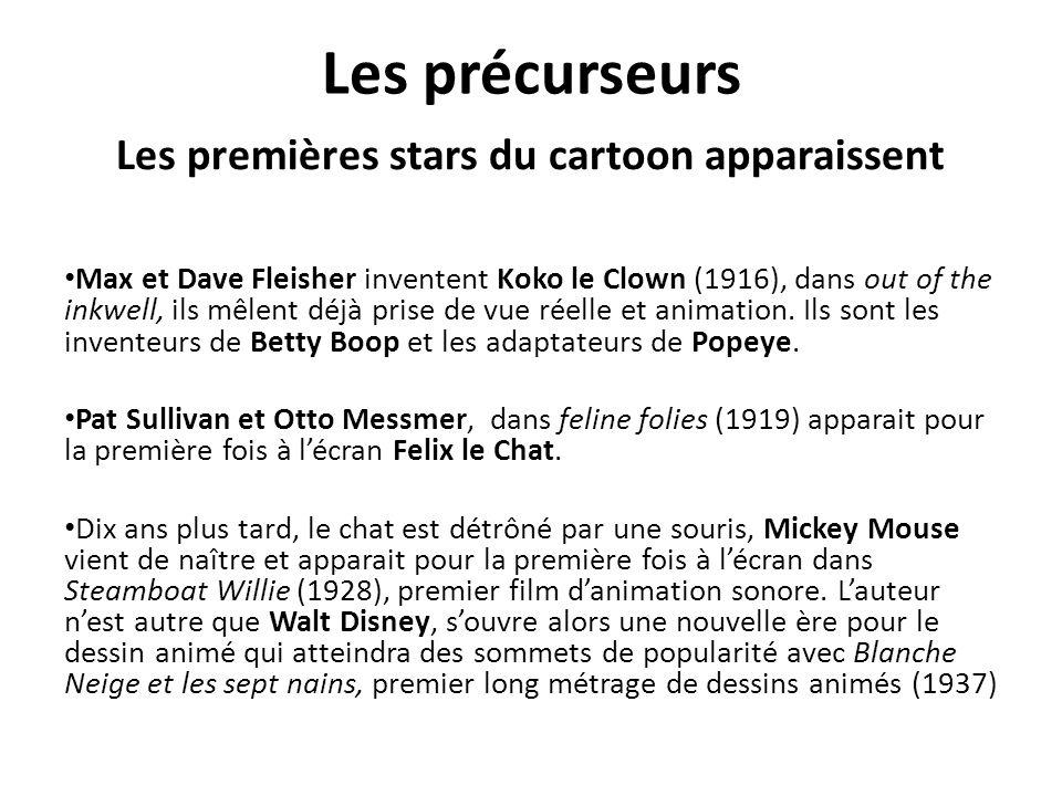 Les précurseurs Les premières stars du cartoon apparaissent