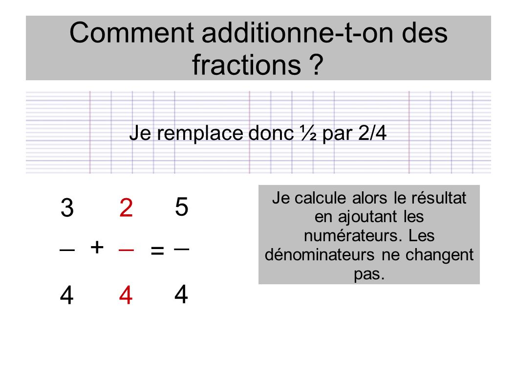 Comment additionne-t-on des fractions