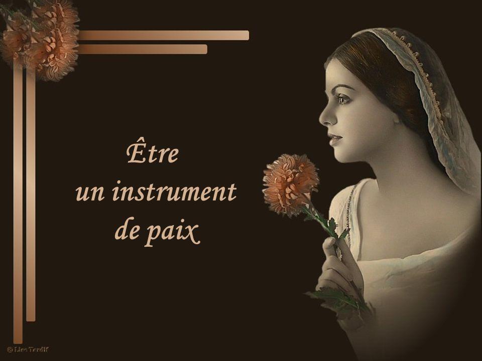 Être un instrument de paix