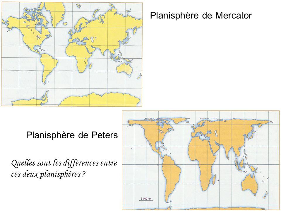 Planisphère de Mercator