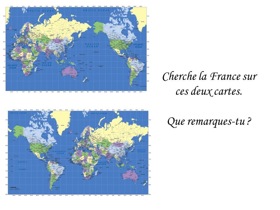 Cherche la France sur ces deux cartes.