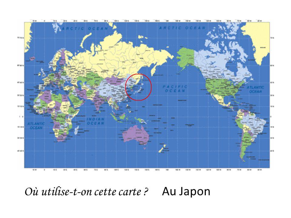Où utilise-t-on cette carte Au Japon