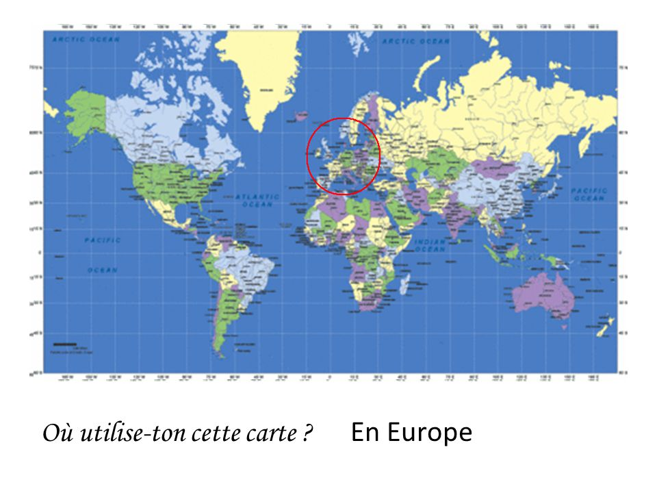 Où utilise-ton cette carte En Europe