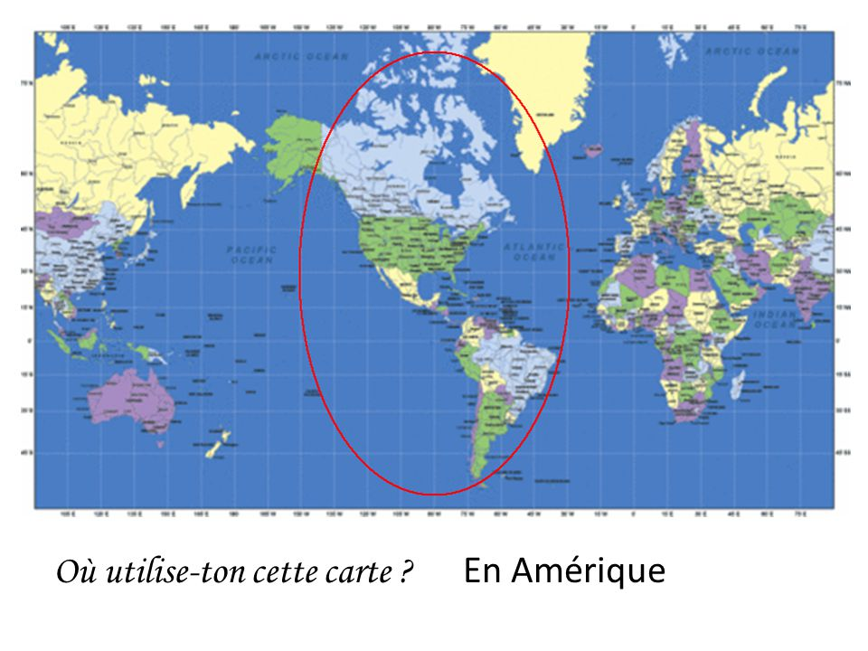 Où utilise-ton cette carte En Amérique