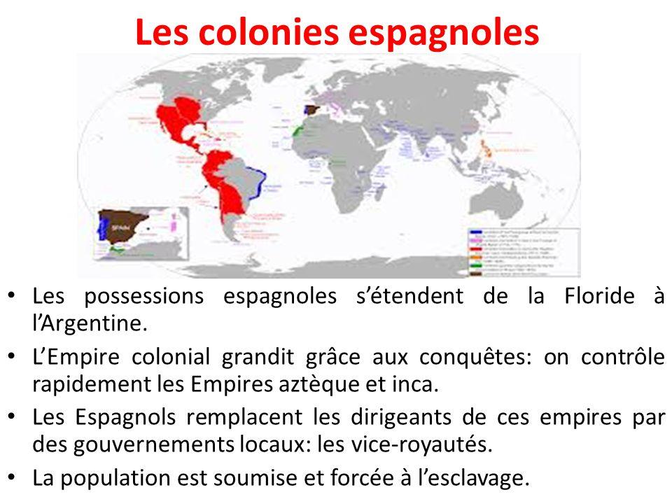 Les colonies espagnoles