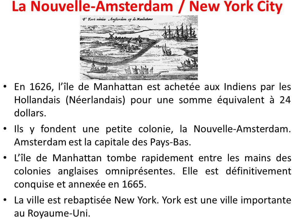 La Nouvelle-Amsterdam / New York City
