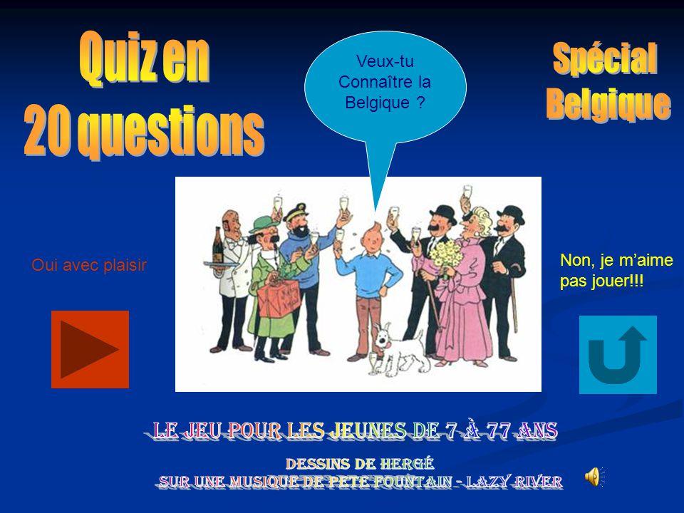 Quiz en 20 questions Veux-tu Spécial Connaître la Belgique Belgique