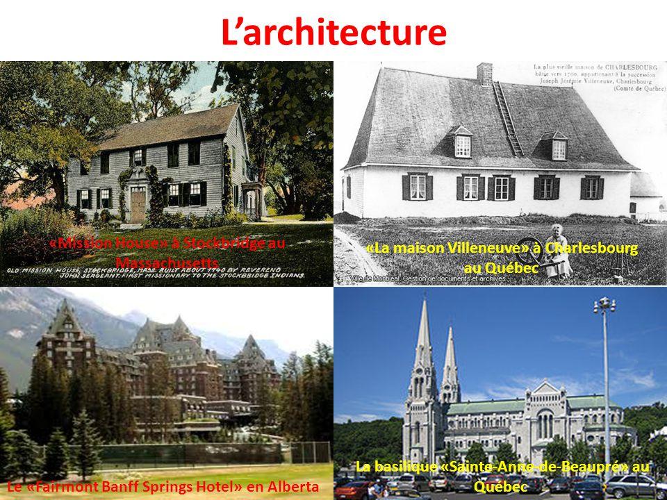 L'architecture «Mission House» à Stockbridge au Massachusetts
