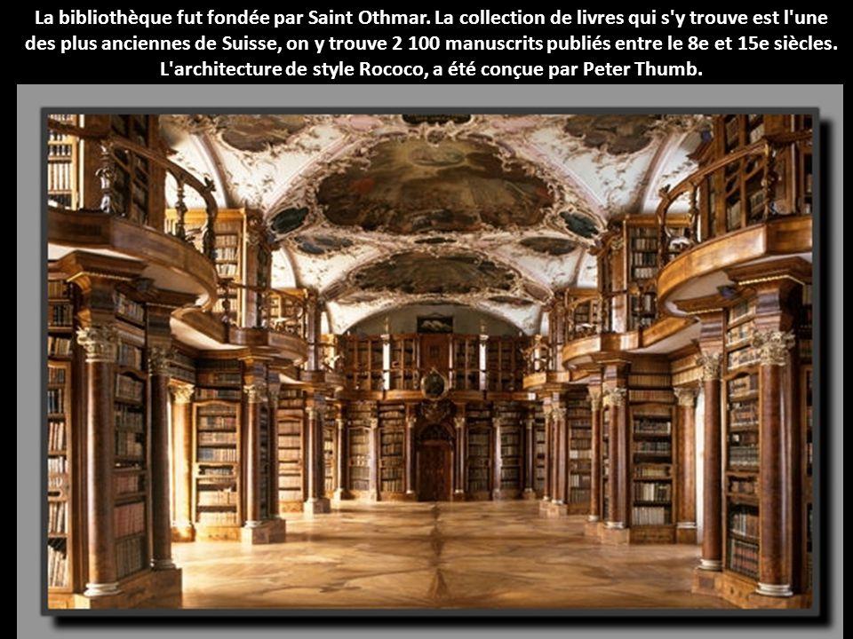 La bibliothèque fut fondée par Saint Othmar