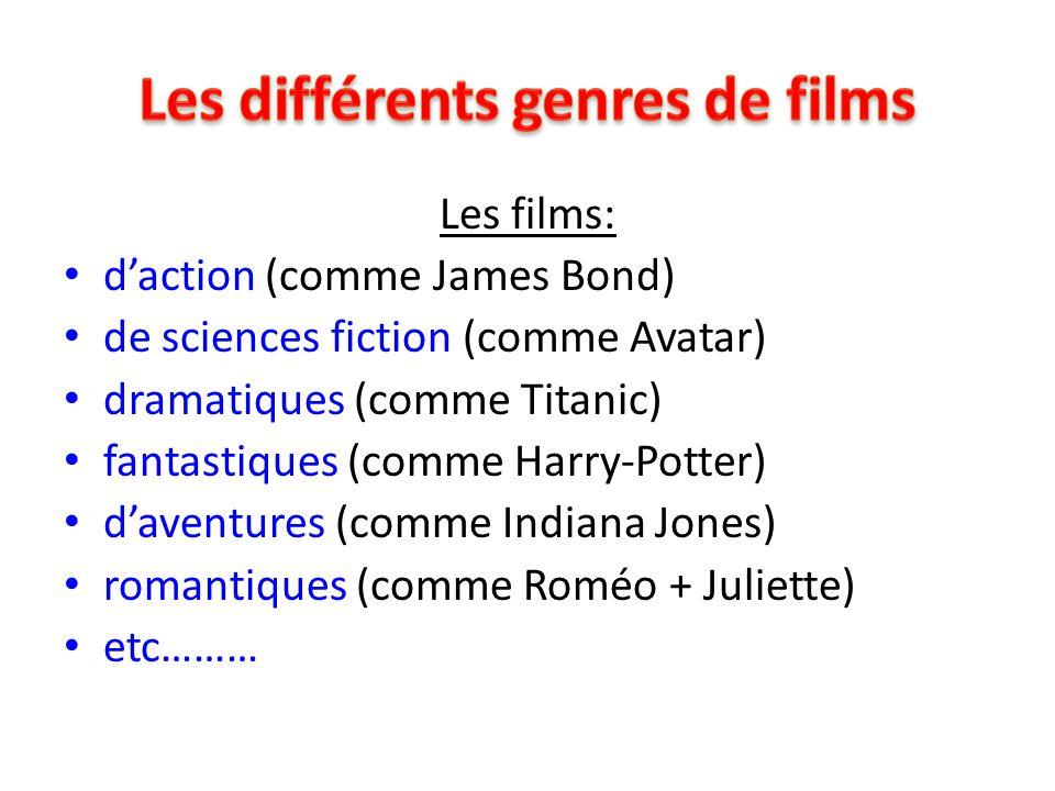 Les différents genres de films