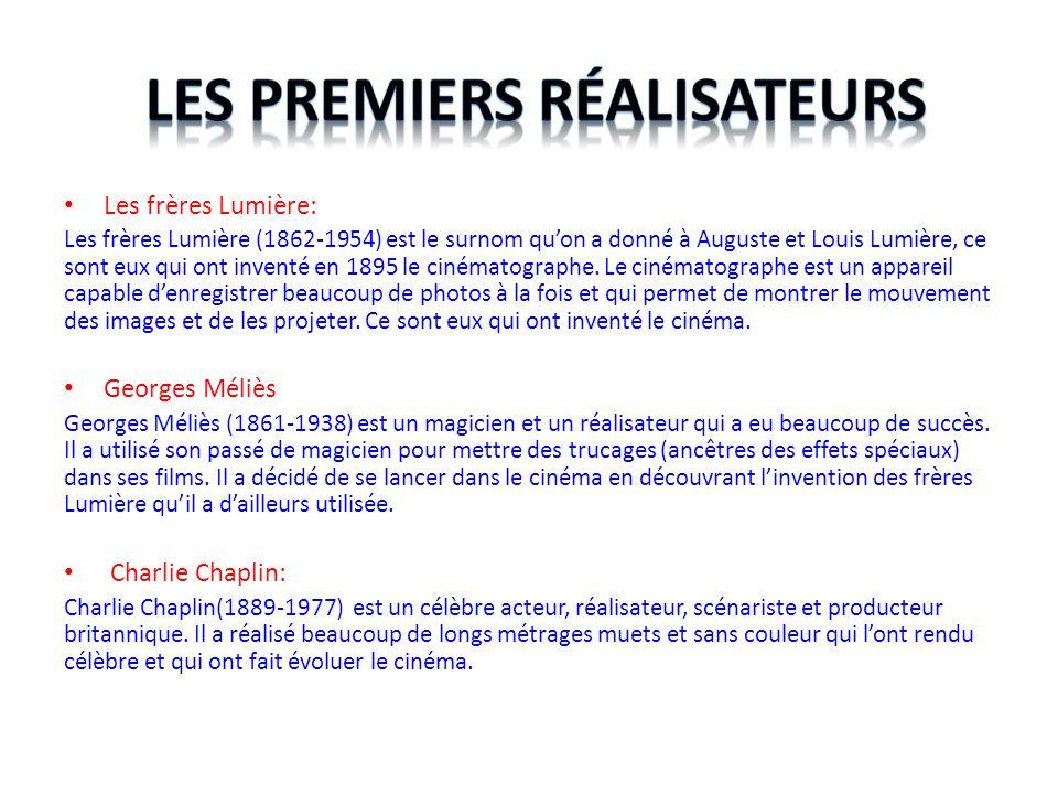 Les premiers réalisateurs