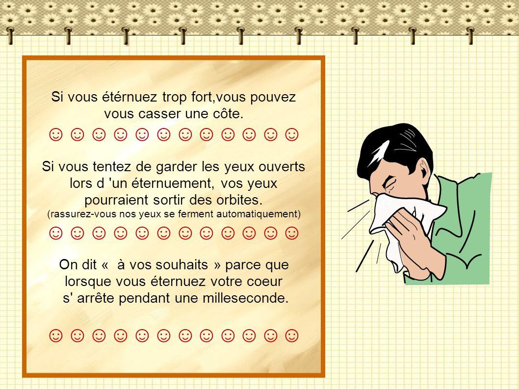 ☺☺☺☺☺☺☺☺☺☺☺☺ Si vous étérnuez trop fort,vous pouvez