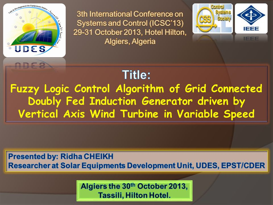 Algiers the 30th October 2013, Tassili, Hilton Hotel.
