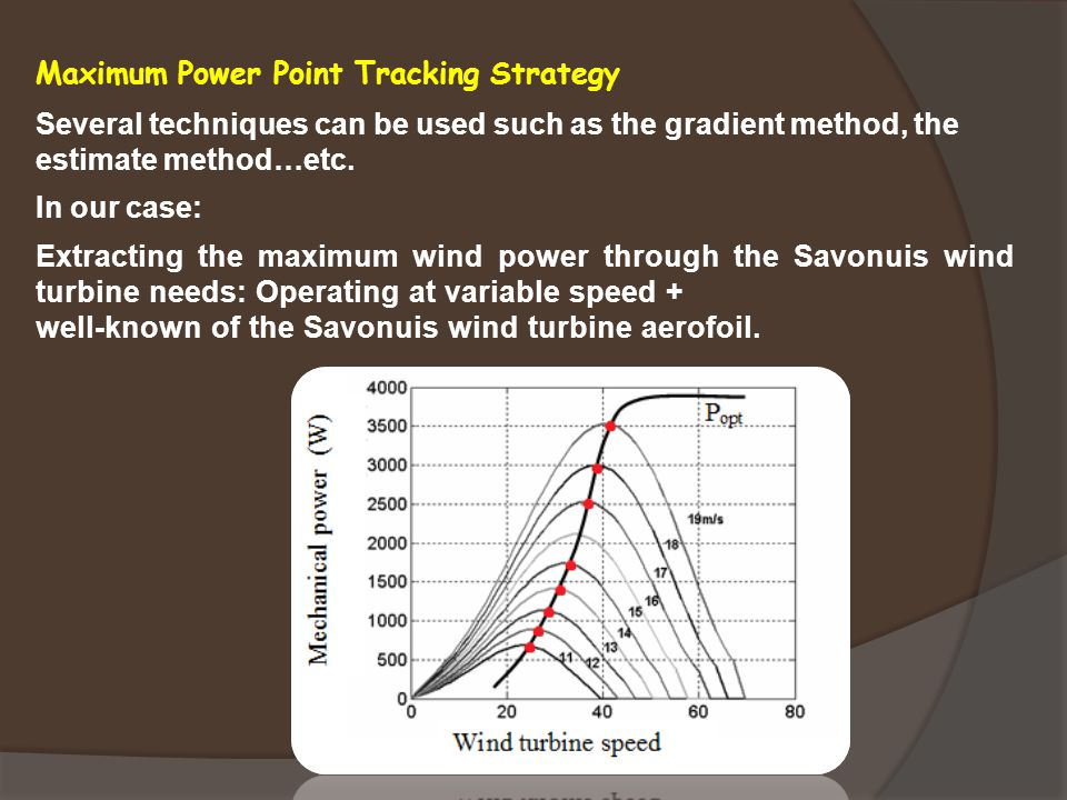 Maximum Power Point Tracking Strategy