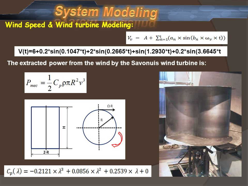 System Modeling Wind Speed & Wind turbine Modeling:
