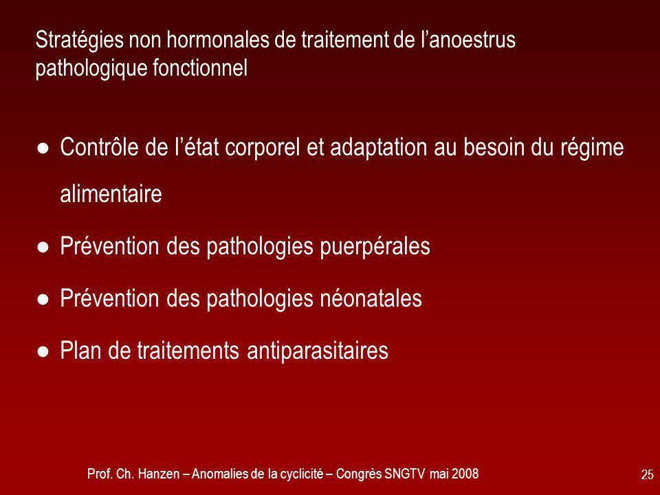 Prévention des pathologies puerpérales