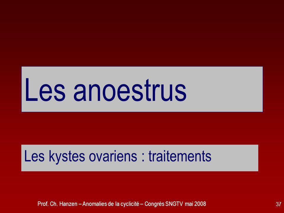 Les kystes ovariens : traitements