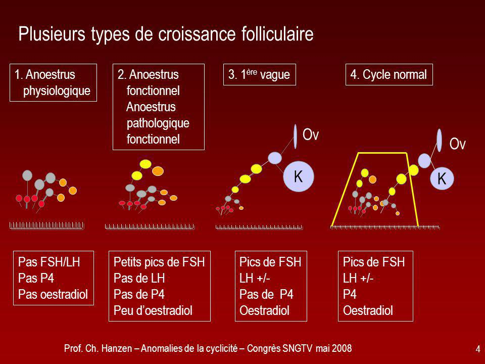 Plusieurs types de croissance folliculaire
