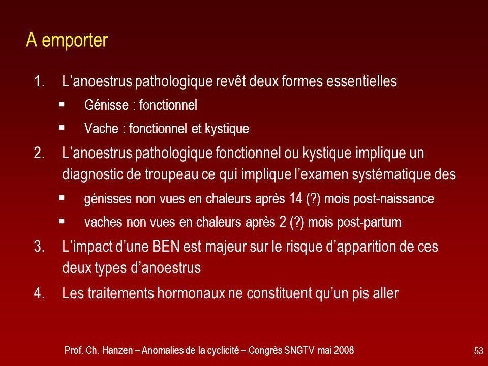 A emporter L'anoestrus pathologique revêt deux formes essentielles