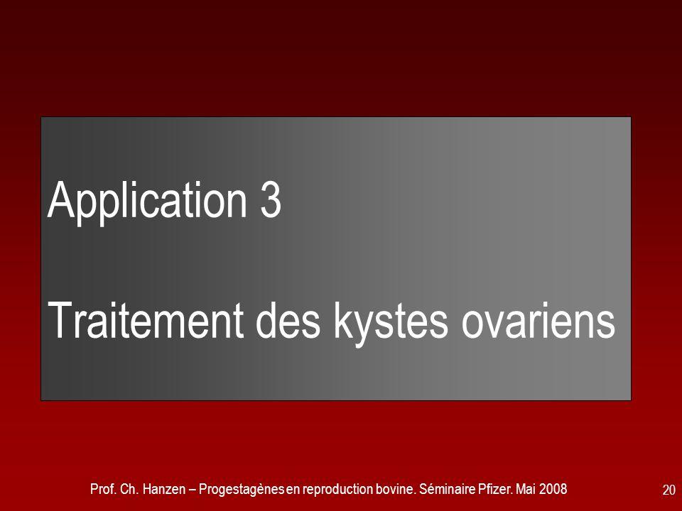 Application 3 Traitement des kystes ovariens