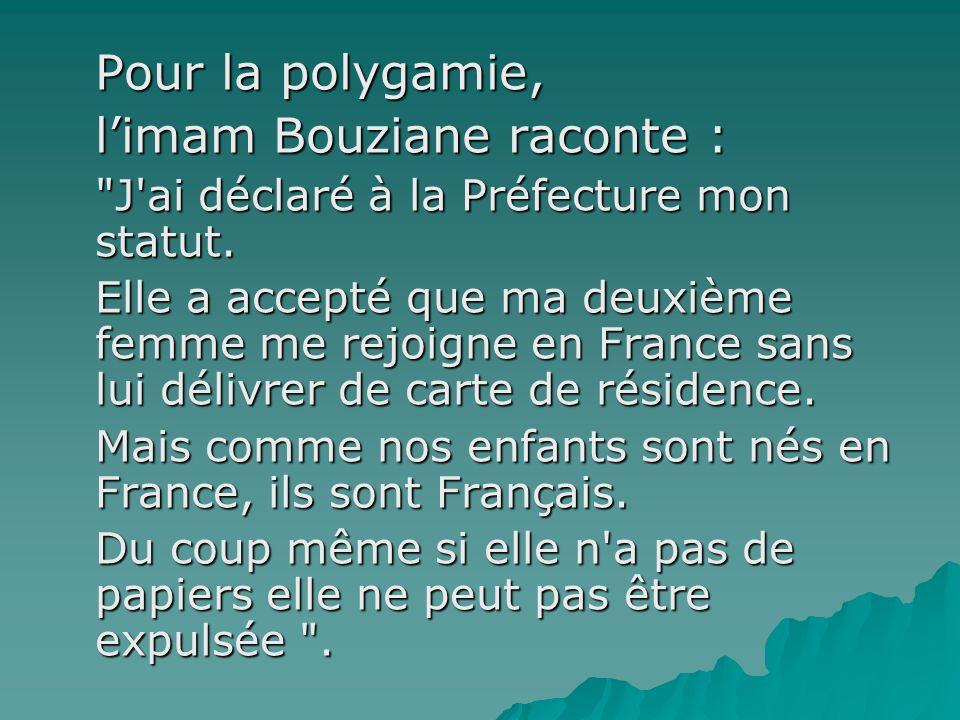 l'imam Bouziane raconte :