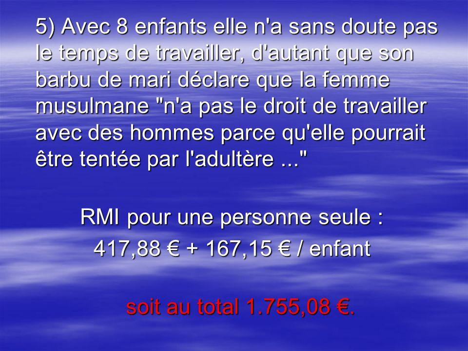 RMI pour une personne seule :