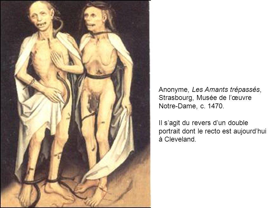 Anonyme, Les Amants trépassés, Strasbourg, Musée de l'œuvre Notre-Dame, c. 1470.