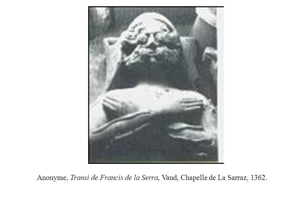 Anonyme, Transi de Francis de la Serra, Vaud, Chapelle de La Sarraz, 1362.