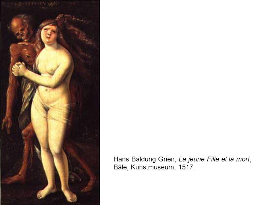 Hans Baldung Grien, La jeune Fille et la mort,