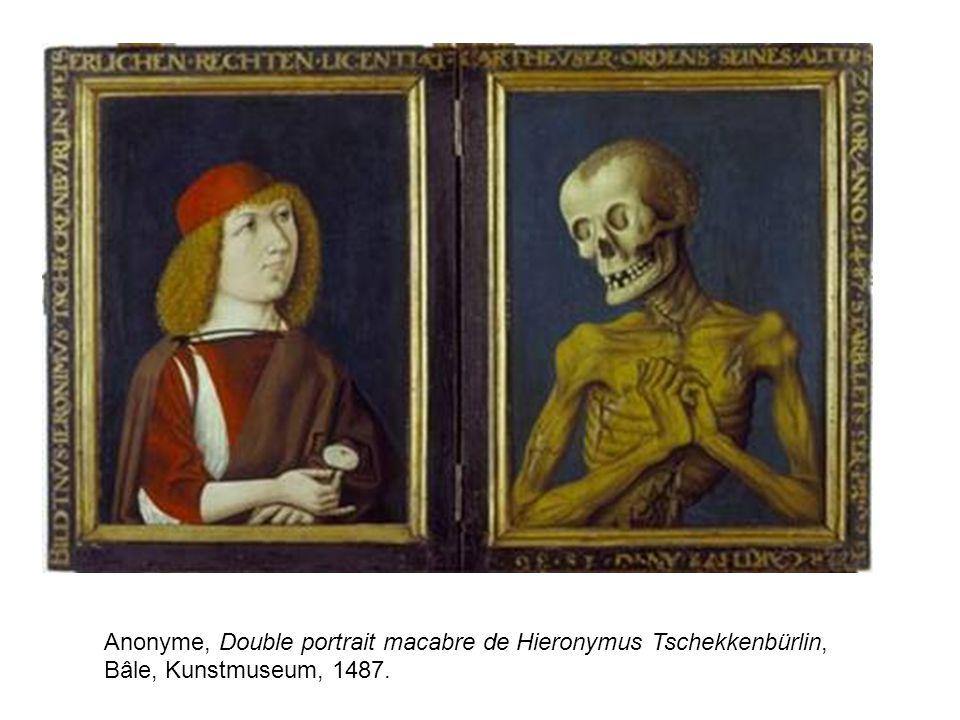 Anonyme, Double portrait macabre de Hieronymus Tschekkenbürlin,