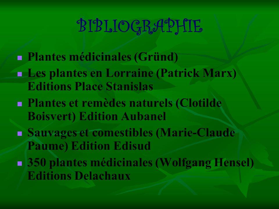 BIBLIOGRAPHIE Plantes médicinales (Gründ)