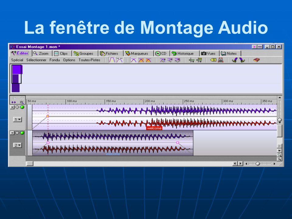 La fenêtre de Montage Audio