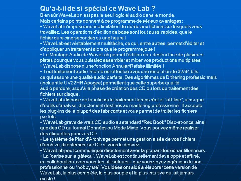 Qu'a-t-il de si spécial ce Wave Lab